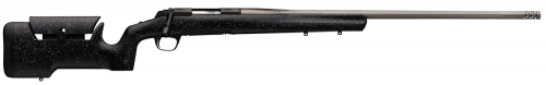 Browning 035438227 X-Bolt Max Long Range Matte Black/Satin Gray Bolt 7mm Rem Mag 26 3+1 Black Gray Splatter Stock